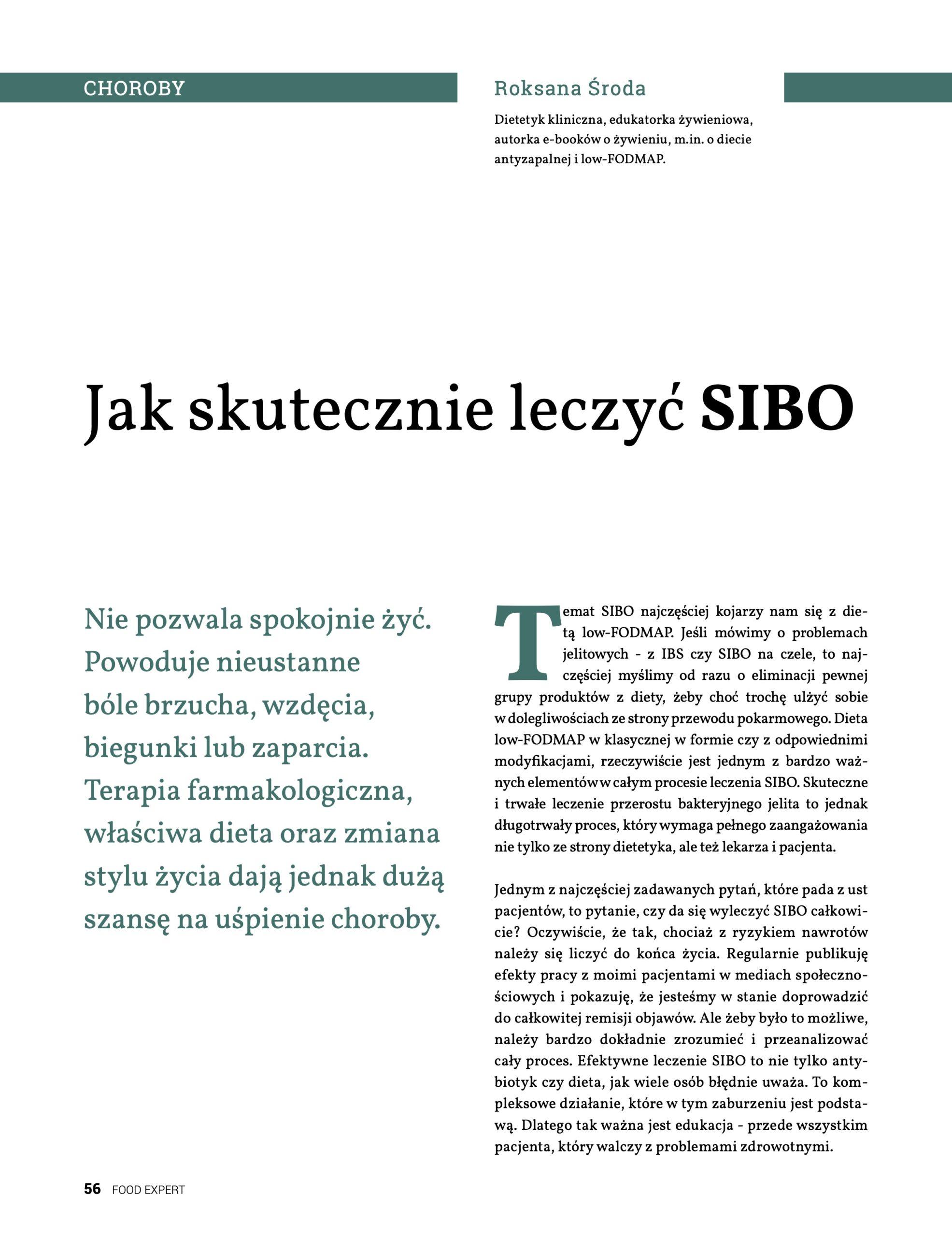 Food Expert #5 - sibo